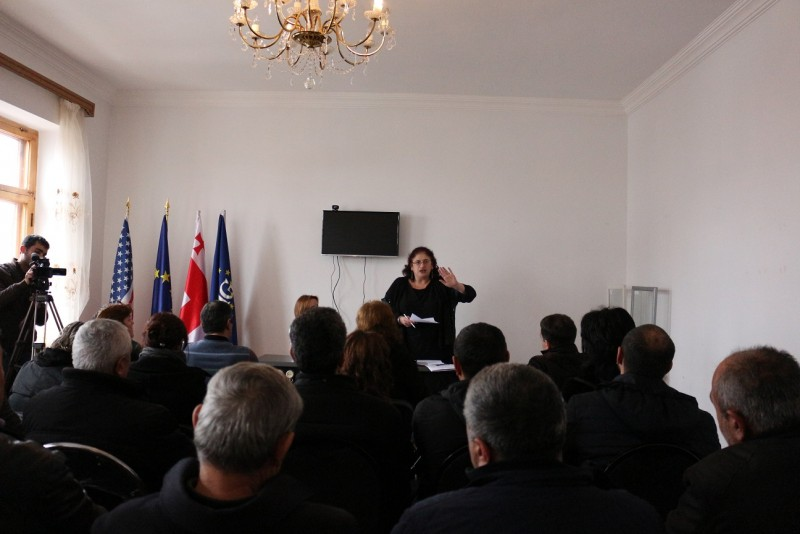 Meeting in Akhalkalakii- The Project Founded by  National Endowment for Democracy (NED)