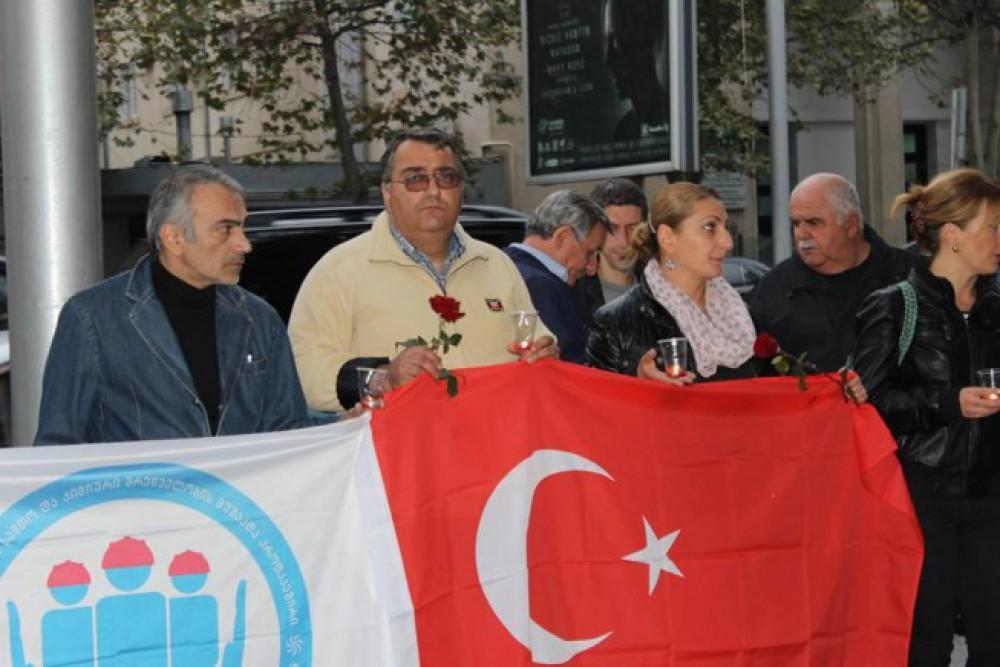 თურქეთის საელჩოსთან სოლიდარობის აქცია გაიმართა