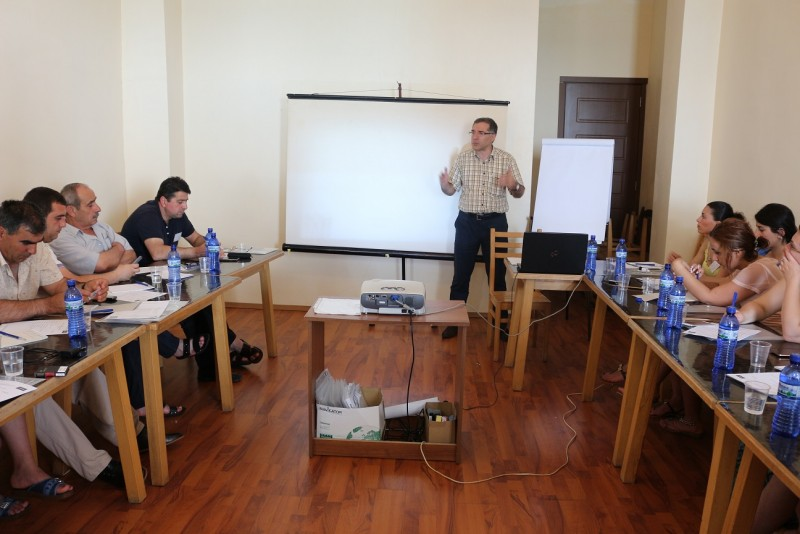 Training for the representatives of acting NGOs in Samtskhe-Javakheti and Kvemo Kartli.
